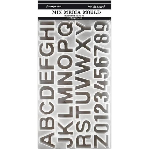 Stamperia Silikon Giessform - Alphabet