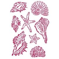 Stamperia Schablone - Romantic Sea Dream Shells A4