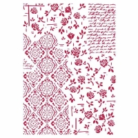 Stamperia Schablone - Roses and Decorations A4