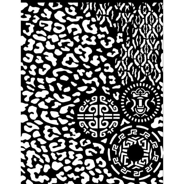 Stamperia Schablone - Amazonia Animalier With Tribals 20x25cm