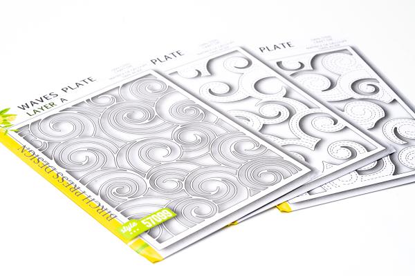 Birch Press Design - Layer Die Set - WAVES PLATE