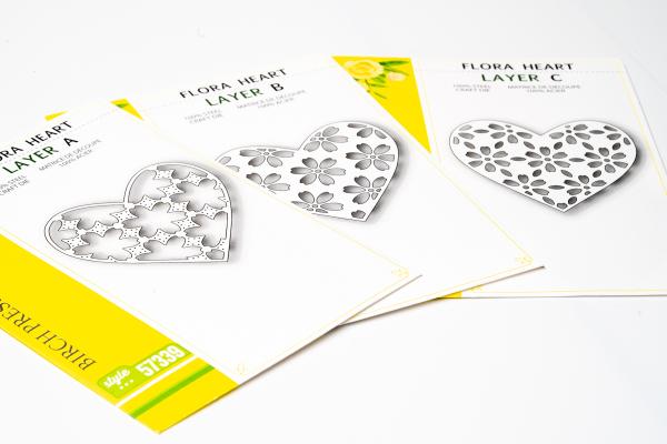 Birch Press Design Layer Craft Die Stanze - FLORA HEART