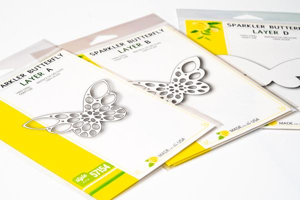 Birch Press Design Layer Craft Die Stanze - SPARKLER BUTTERFLY