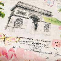 Baumwolle La Vie En Rose, Paris