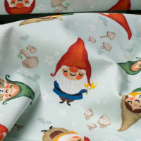 Baumwolle Gnome Sweet Gnome Mint