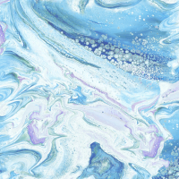 Baumwolle Fusion II WAVE Blue