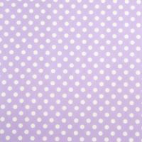Beschichtete Baumwolle Glänzend Maxipunkte Flieder