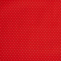 Beschichtete Baumwolle Glänzend Minipunkte Rot