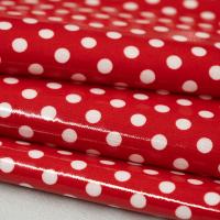 Beschichtete Baumwolle Glänzend Maxipunkte Rot