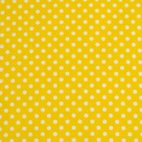 Beschichtete Baumwolle Glänzend Maxipunkte Gelb