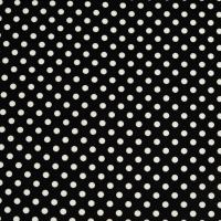 Beschichtete Baumwolle Glänzend Maxipunkte Schwarz