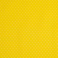 Beschichtete Baumwolle Glänzend Minipunkte Gelb