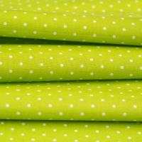 Beschichtete Baumwolle Glänzend Minipunkte Lime