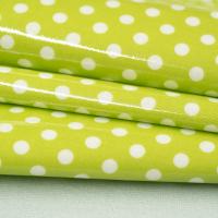 Beschichtete Baumwolle Glänzend Maxipunkte Lime