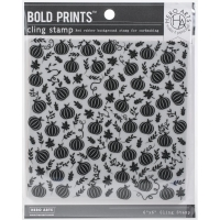 Hero Arts Cling Stamp Background Pumpkin Patch