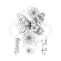 Creative Expressions Clear Stamp - Butterfly Blooms