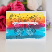Creative Expressions Clear Stamp - Blossom Butterfly