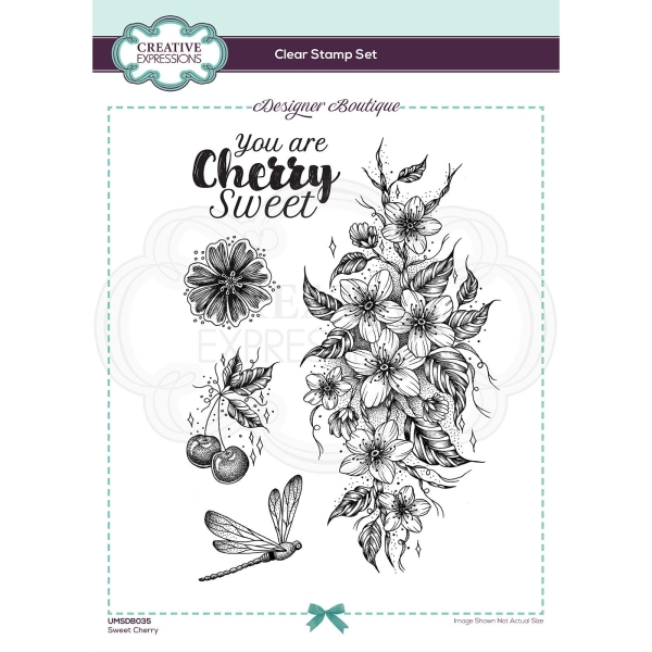 Creative Expressions Clear Stamp Set - Sweet Cherry