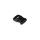 Steckverschluss breit schwarz für 25mm Band