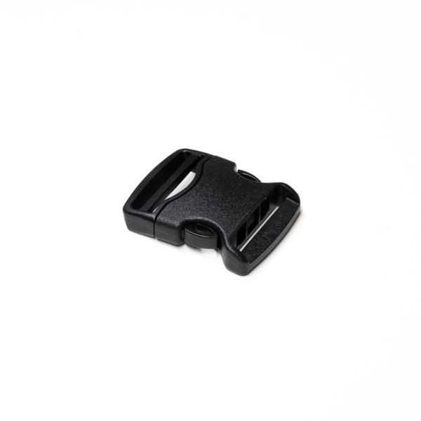 Steckverschluss breit schwarz für 30-32mm Band