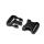 Steckverschluss breit schwarz für 38-40mm Band