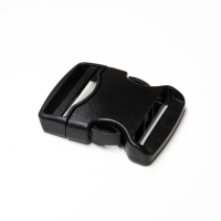 Steckverschluss breit schwarz für 50mm Band