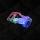 Steckverschluss Transparent mit LED für 25mm Band