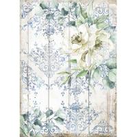 Stamperia Reispapier A4 Romantic Sea Dream White Flower
