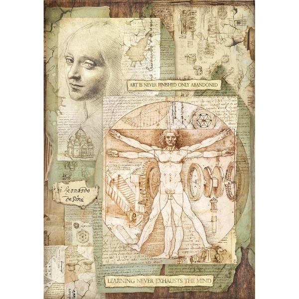 Stamperia Reispapier A3 Leonardo Vitruviano