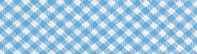 Schrägband, Vichy hellblau/weiss