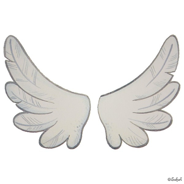 Safuri Bügelbild Flügel