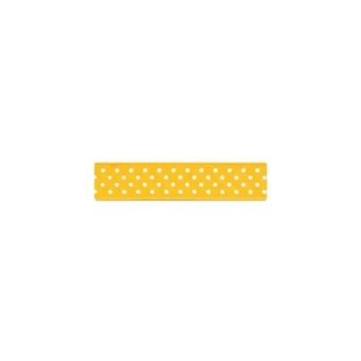 "Repsband ""Polka Dots"", gelb"