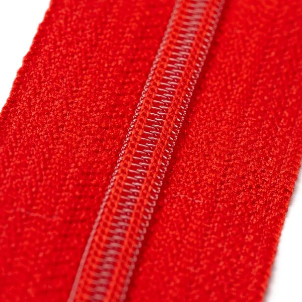 4mm Reissverschluss, rot