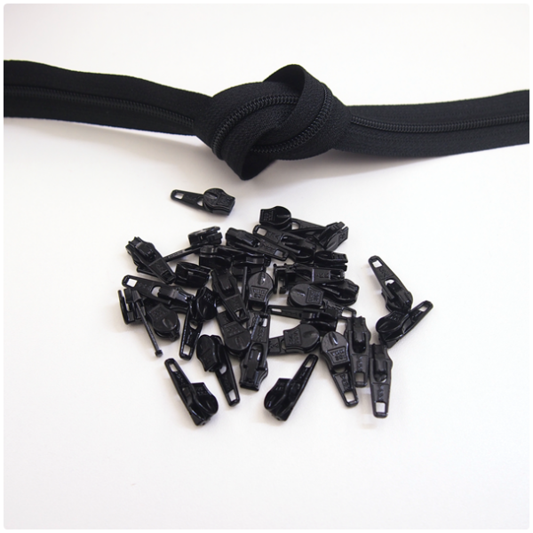 6mm Reissverschluss, schwarz