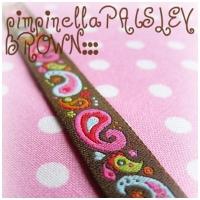 Farbenmix Webband Paisley mokkabraun