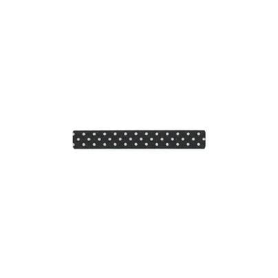 """Repsband """"Polka Dots"""" schmal, weiss auf schwarz"""
