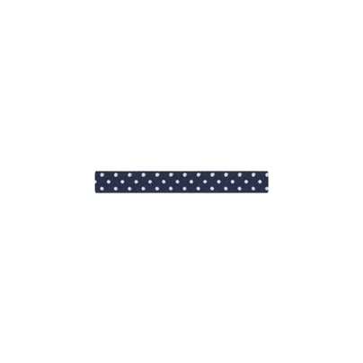 """Repsband """"Polka Dots"""" schmal, weiss auf marine"""