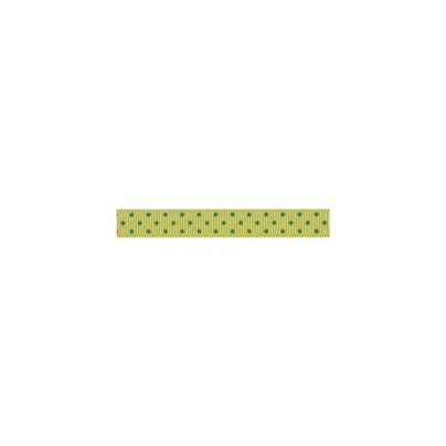 "Repsband ""Polka Dots"" schmal, grün auf hellgrün"
