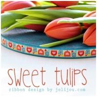 Farbenmix Webband Sweet Tulips
