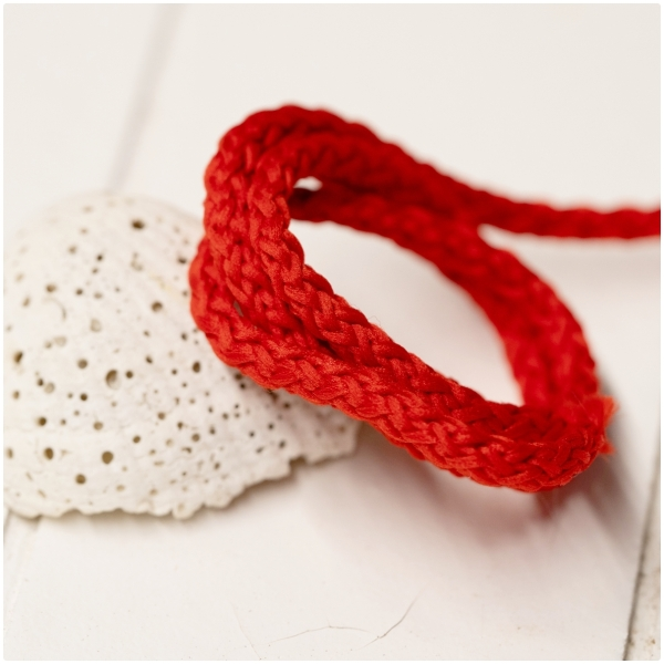 Polyester Rundkordel 4mm Rot