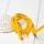 Polyester Rundkordel 4mm Gelb