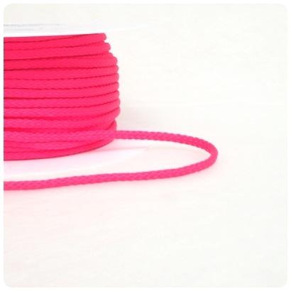 Polyester Rundkordel 4mm, neonpink