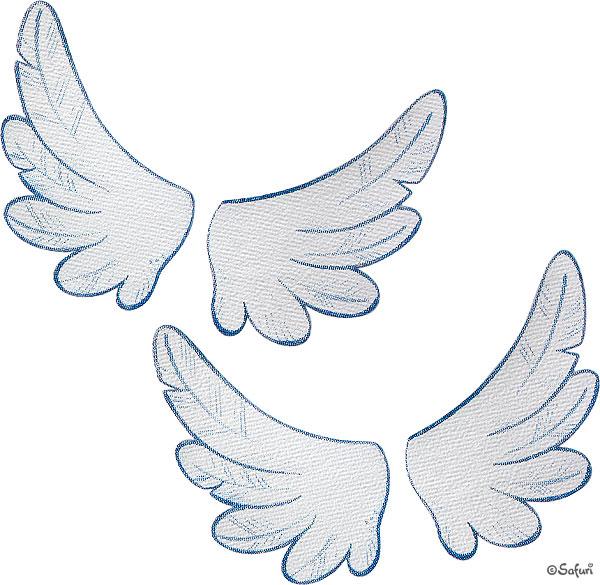 Safuri Bügelbild kleine Flügelchen 2er Set