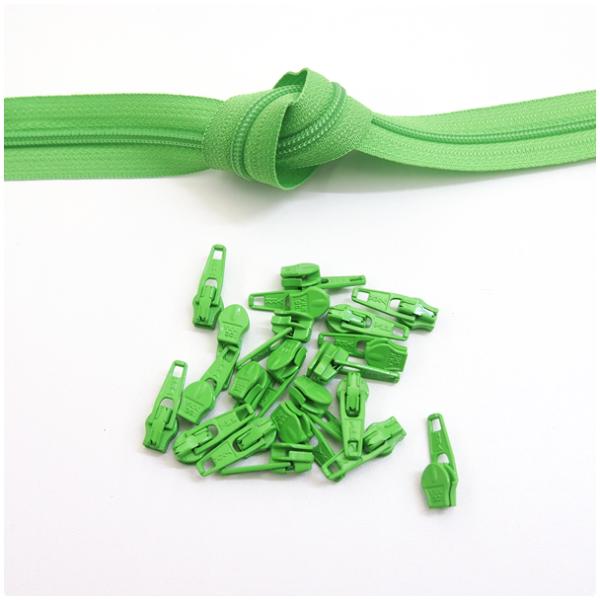 6mm Reissverschluss, grün
