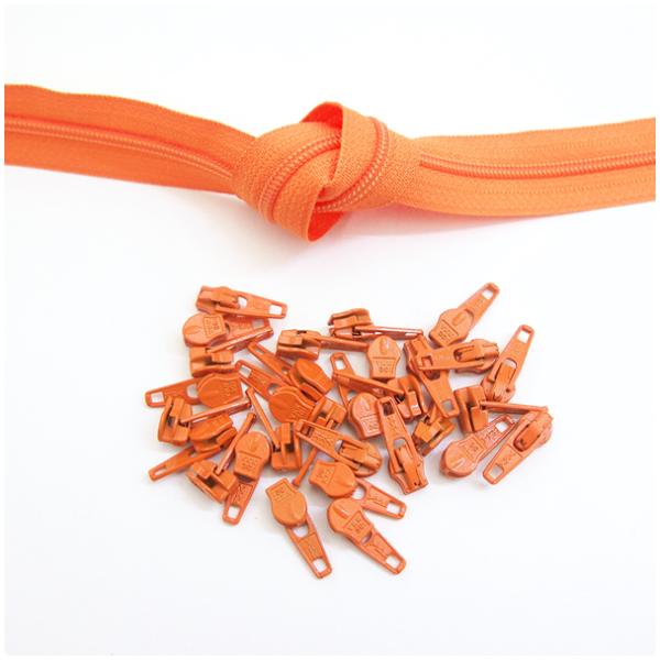6mm Reissverschluss, orange