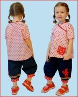 Kleine Klamotte Bluse und Hose Farbenmix Schnittmuster