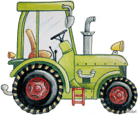 Safuri Bügelbild Traktor