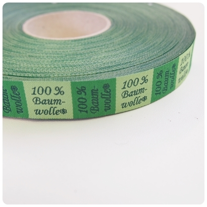 "Webband ""100% Baumwolle""-Label"
