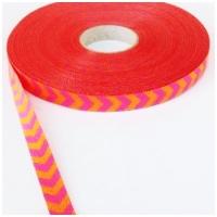 Farbenmix Webband Chevron pink-orange