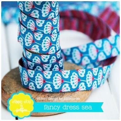 Farbenmix Webband Fancy Dress sea